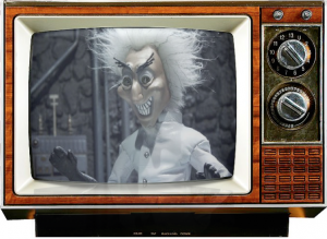 robot chicken man scientist-saturday-morning cereal console