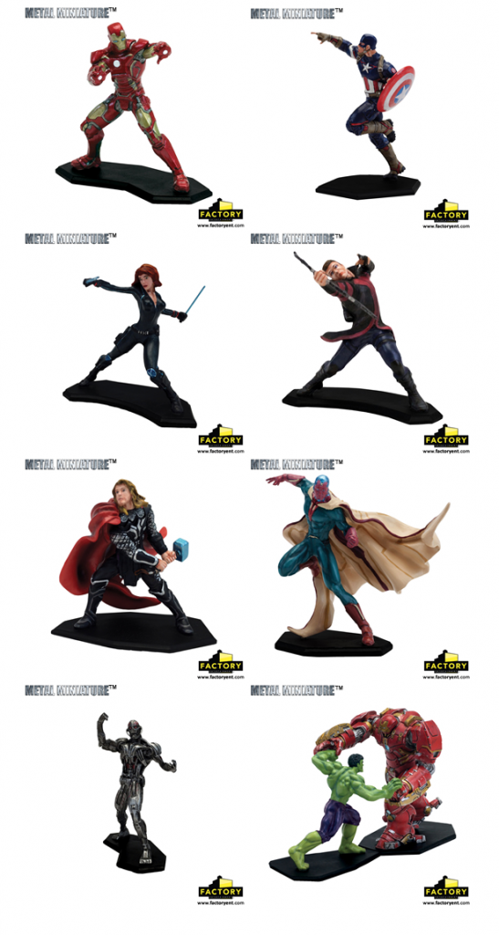 Factory Entertainment Marvel Avengers Metal Miniatures