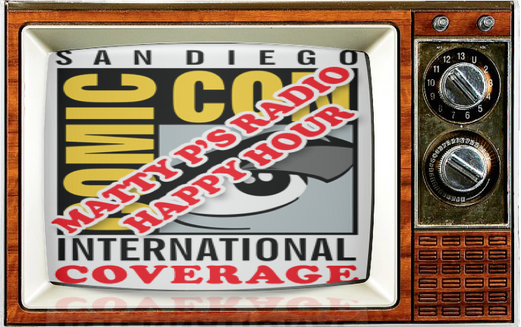 SMC TV SDCC Alternate Show 2016 Matty P's Radio Happy Hour Coverage Logo