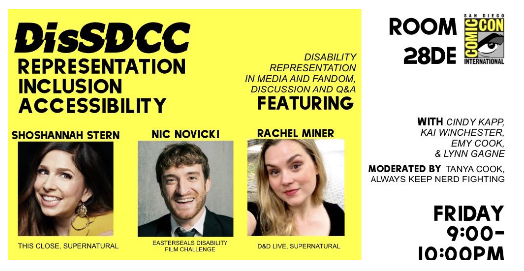Inclusion Matters with DisSDCC at SDCC 2019